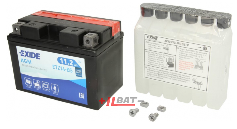 Exide Bike AGM 12V 11,2Ah 205A ETZ14-BS