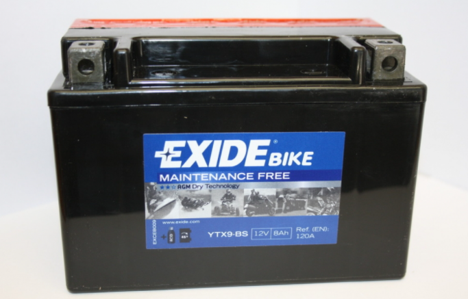 Exide Bike AGM 12V 8Ah 120A ETX9-BS
