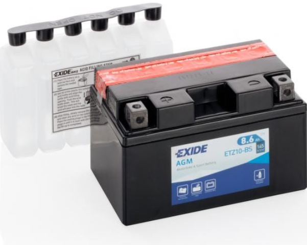 Exide Bike AGM 12V 8.6Ah 145A ETZ10S-BS