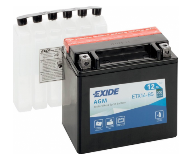 Exide Bike AGM 12V 12Ah 200A ETX14-BS