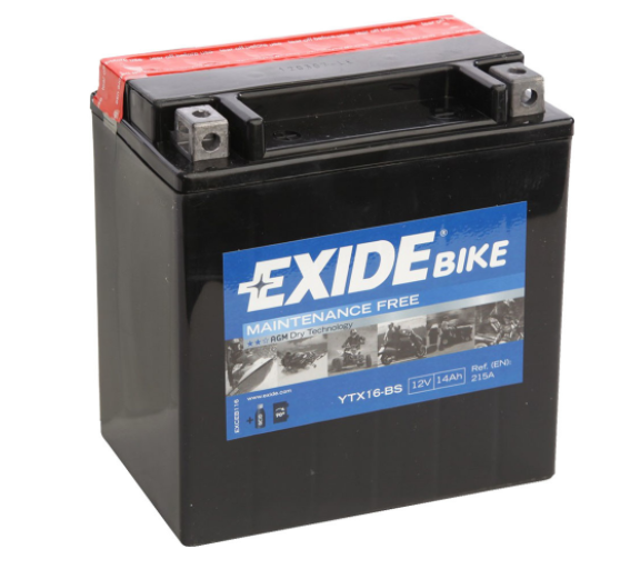 Exide Bike AGM 12V 14Ah 215A ETX16-BS