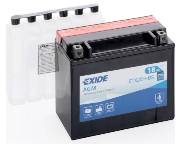 Exide Bike AGM 12V 18Ah 270A ETX20H-BS